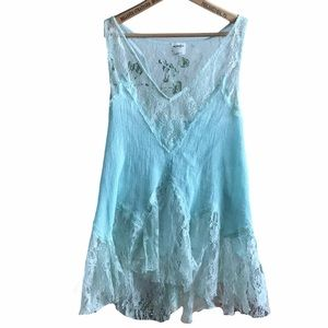 Intimately Free People blue lace tank top